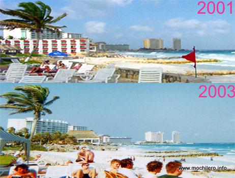 Cancún: Diferencias entre 2001 y 2003