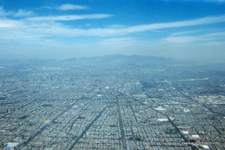 México DF desde el avión de United Airlines