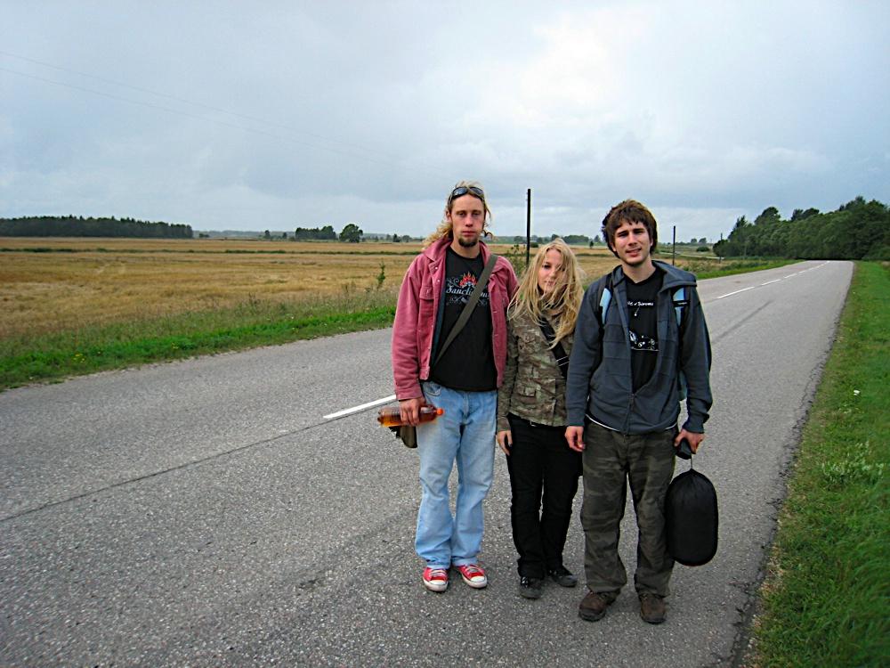 de mochilero en Latvia