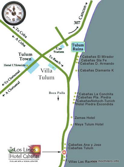 Mapa Tulúm