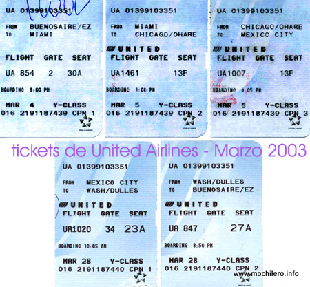 Tickets de United Airlines